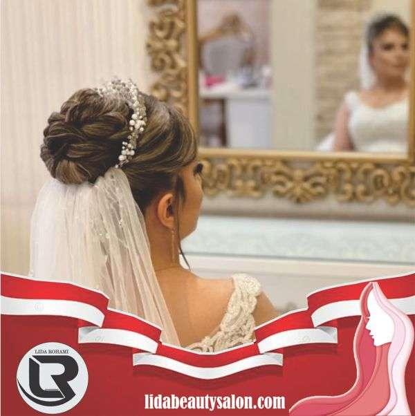 آموزش شنيون مو عروس